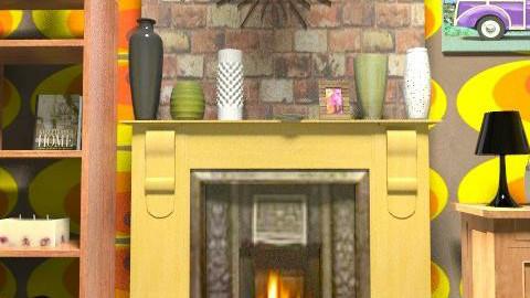 The Fire    - Retro - Living room  - by milyca8