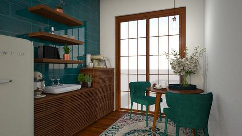 turquoise - Kitchen - by sara1010