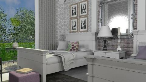 Guest bedroom 2 - Eclectic - Bedroom  - by du321