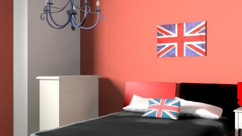 Union Jack Dream - Retro - Bedroom  - by LizC23