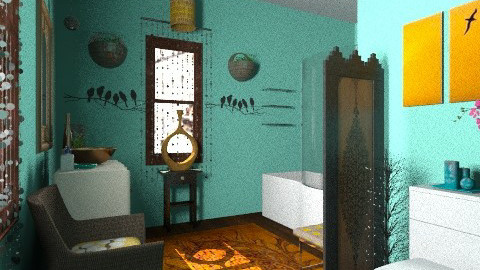 put a bird on it - Eclectic - Bathroom  - by PennyDreadful
