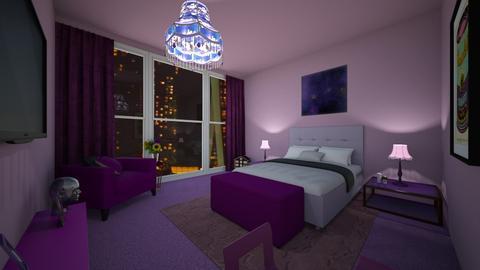Purple Room - Bedroom  - by nkanyezi
