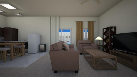 Pool Apartment  - Living room  - by mspence03