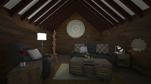Little Log Cabin - Country - Living room  - by millerfam