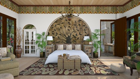 Design 214 Leaves - Bedroom  - by Daisy320