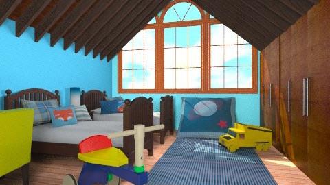 Boys in the Attic - Modern - Kids room  - by chloedaniella