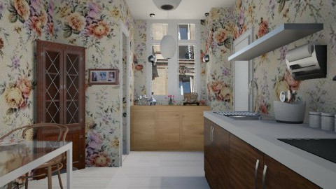 Paris tiny room - Country - Kitchen  - by Karine Hakobayan