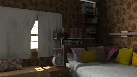 aria's quarto - Rustic - Bedroom  - by lilian_