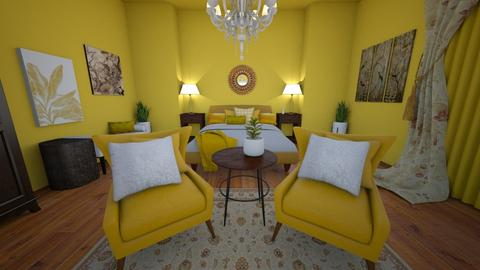 Yellow Bedroom - Bedroom  - by Bubblytea