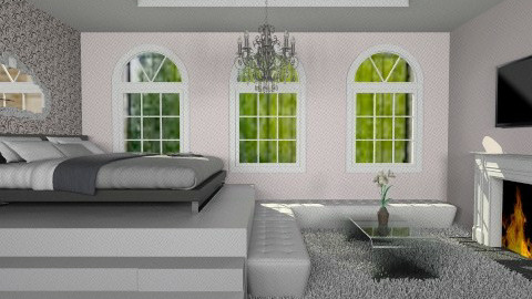 Think Pink - Glamour - Bedroom - by Annaduley
