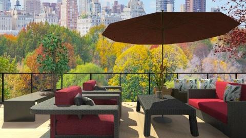 New York Balcony - Garden  - by Sharon Barnes