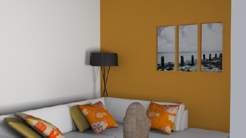 orange room2 - Glamour - Living room  - by suh95