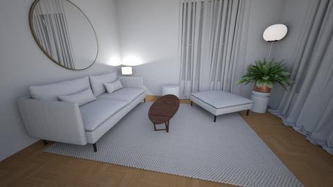 Living room rug white 8 - Living room  - by MarikaMV