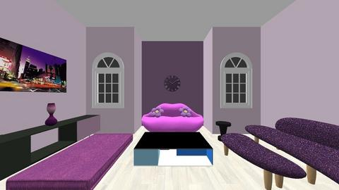 Living Room Purple - Living room  - by Alyssa129