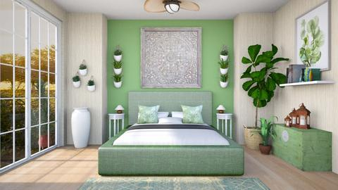 Sage Green Bedroom - Bedroom  - by Woodsmoke22
