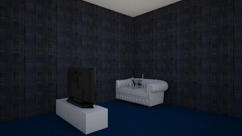 cat watching tv - Living room  - by rabatat