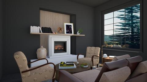 Dark shade LR - Living room  - by Sandra Wanga