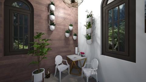 coffee lounge back corer - by bellavanderwal