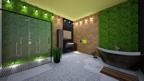 Urban Jungle Bathroom - Bathroom - by KittyGirl31