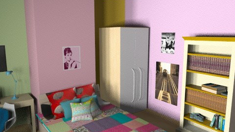 My room - Retro - Bedroom  - by bubblyminty