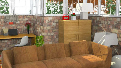 LogCabinLiving - Eclectic - Living room  - by camilla_saurus
