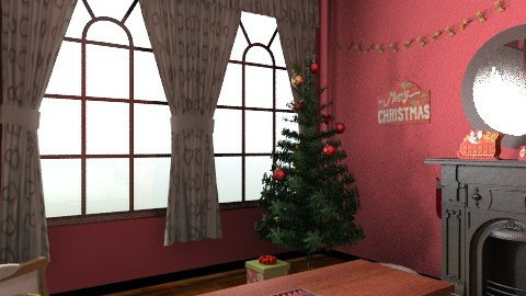 Christmas living room - Vintage - Living room  - by PrincessDecember