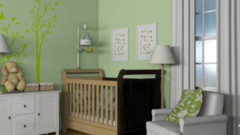 Green Nursery - Classic - Kids room  - by reedj0218