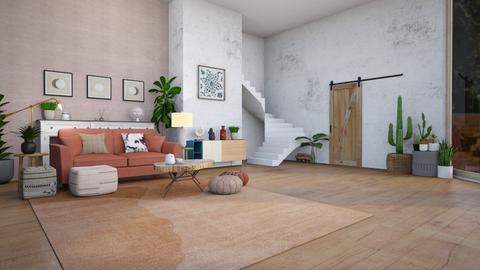 comfortably - Feminine - Living room  - by laybbear_