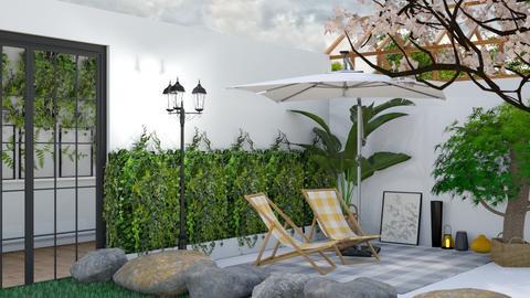 Tropical Patio - Garden  - by Yudum Kutlu