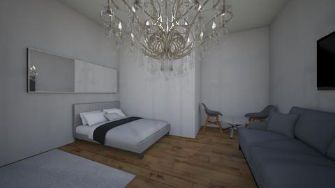 Grey room - Bedroom  - by izzaazam