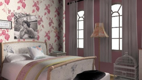 Pretty Vintage Bedroom  - Vintage - Bedroom  - by BambooPenguin