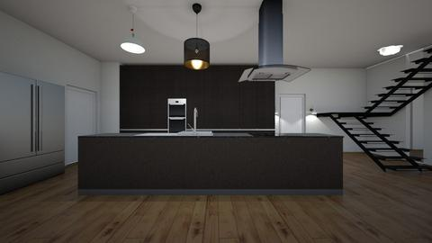 mansion - Kitchen  - by Architectdreams