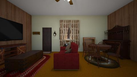Rustic Country LR - Living room  - by WestVirginiaRebel