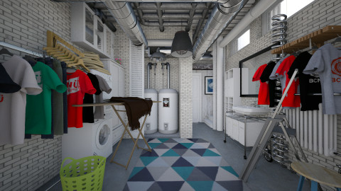 laundry with pipes - Modern - by Evangeline_The_Unicorn