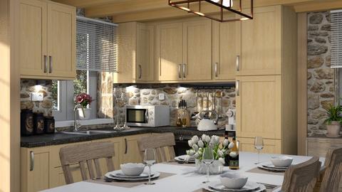 468 - Rustic - Kitchen  - by Claudia Correia