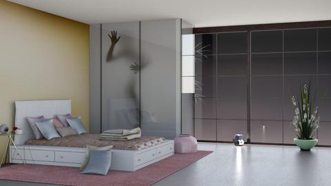 my blurry art bed room - Bedroom  - by nat mi