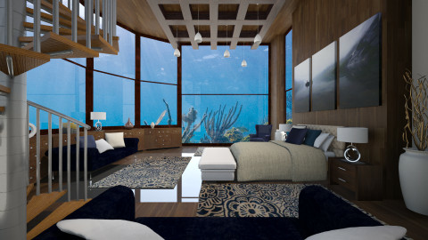 underwater bedroom - Bedroom  - by Senia N