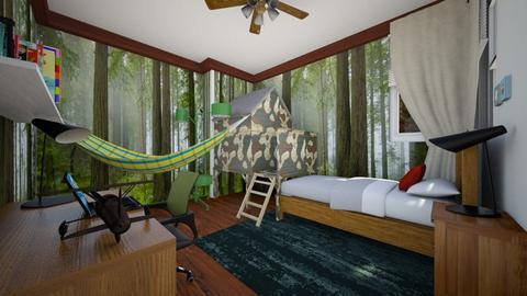 Kid's Bedroom With Fort - Kids room  - by SammyJPili