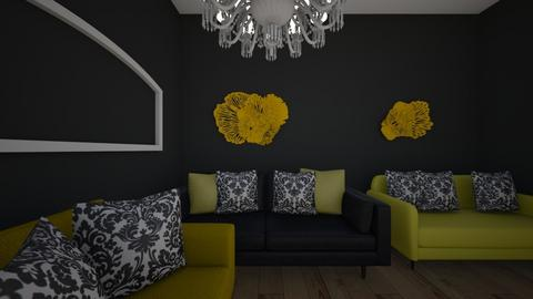 Yellow n Black - Living room  - by MaiZee20