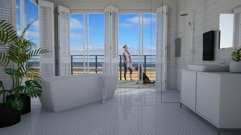 beach house - Bathroom - by Tuija