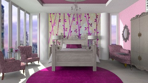 Peace in the city bedroom - Glamour - Bedroom  - by alleypea