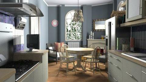 Villo restaurant ny - Rustic - Kitchen  - by c2me23