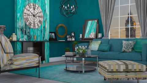 Turquoise Metal Living - Modern - by Nina Colin