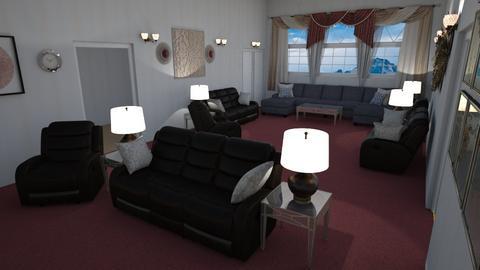 Mansion LvRm - Modern - Living room  - by alonatech_2nd