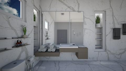 Minimal Grey - Modern - Bathroom  - by AngelicT