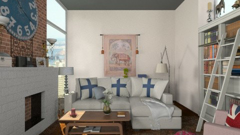 Country Inspired Loft - Country - Living room  - by paluvica