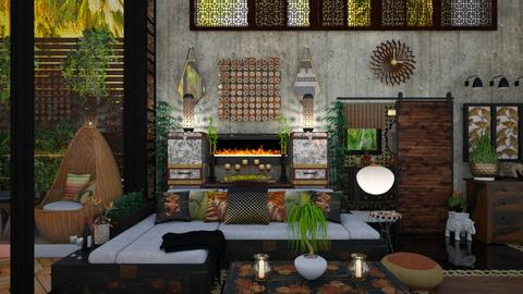 Thai Villa Living Room - by dZynerSuPreme
