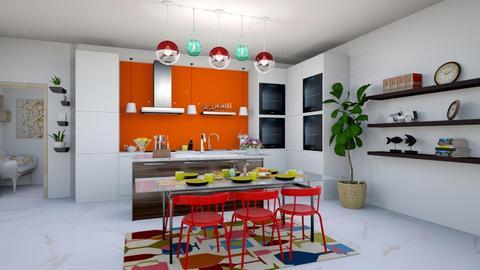 modern playful kitchen - Kitchen - by shyy