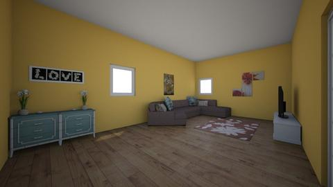 yellow crown room - Country - Living room  - by aschaper