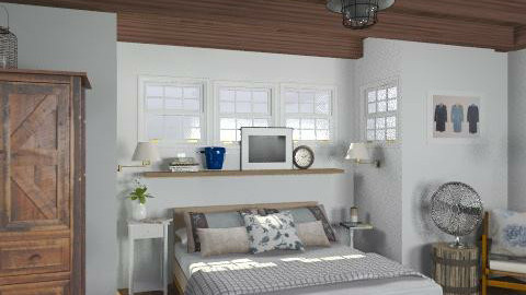 Lakeside Cottage Master Bedroom - Rustic - Bedroom  - by LizyD